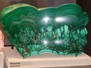 Botryoidal Malachite at the Royal Ontario Museum